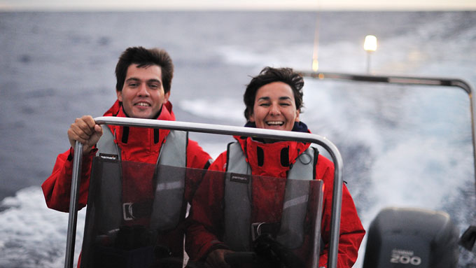 Hugo Romano and Catarina Fagundes in Oceanodroma